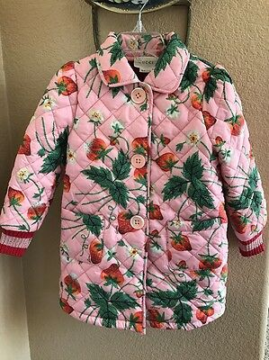 Gucci Girls Pink Quilted Jacket, Coat, Size 2T, 18-24 Months, Authentic, Unique