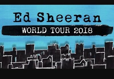 Ed Sheeran - 2 A Reserve Grand Tickets (Seats) Thursday 15th March 2018 - Sydney