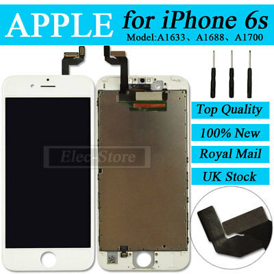 """White Screen For iPhone 6S 4.7"""" LCD Replacement Digitizer Touch Assembly Display"""