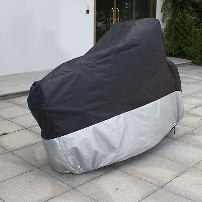 L Large Motorcycle Cover Waterproof Motorbike Cruiser Bike Scooter Cover