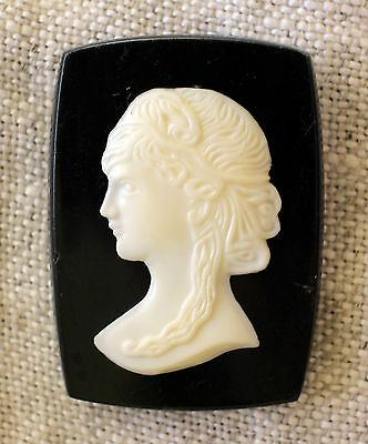 Vintage Antique Old Gorgeous Cameo Brooch Soviet Time USSR Russian