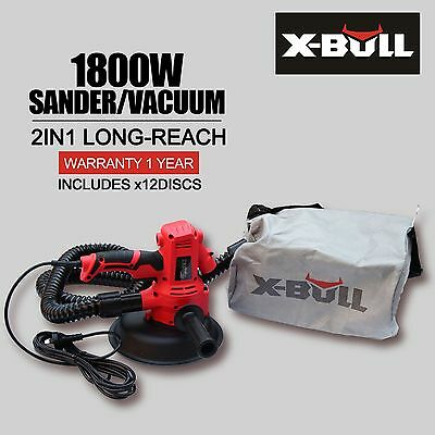 X-BULL Drywall Sander 1800W with Automatic Vacuum System - Gyprock Plaster