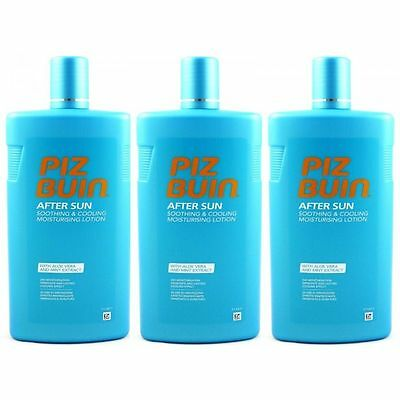 Piz Buin After Sun Lotion 24 H kühlende Feuchtigkeitslotion 3 x 400 ml Set