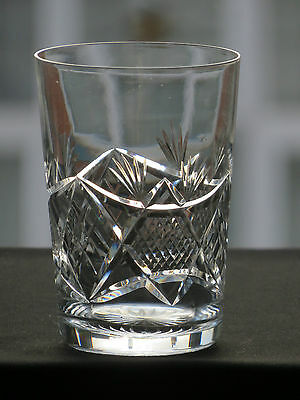 Edinburgh Crystal Cut Crystal Tumbler-Signed