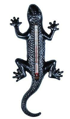 Cast Iron Lizard Thermometer - Outdoor/indoor Use