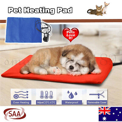 Electric Waterproof Pet Heating Pad Mat Blanket Bed Dog Cat Bunny Whelping Warm