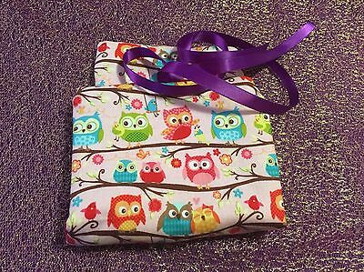 Tarot Card and Oracle Card Wrap Clutch Bag - Hand Made - Little Owls No. 3