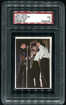 THE BEATLES / 1964 TOPPS DIARY CELLO PACK / SEALED & UNOPENED / PSA 7 / NrMINT!