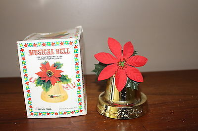 Vintage Christmas Musical Bell Hanging Decoration in Original Box Battery Run