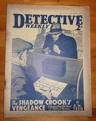 DETECTIVE WEEKLY No 160 MAR 1936 THE SHODOW CROOK'S VENGEANCE