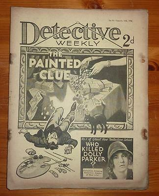 DETECTIVE WEEKLY No 91 17TH NOV 1934 THE PAINTED CLUE SEXTON BLAKE