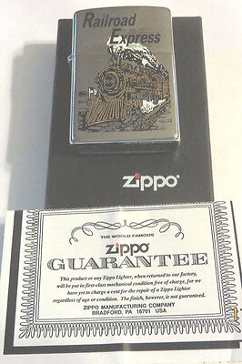Zippo (1996) Railroad Express, Advertising, Lighter, Mint In Box!