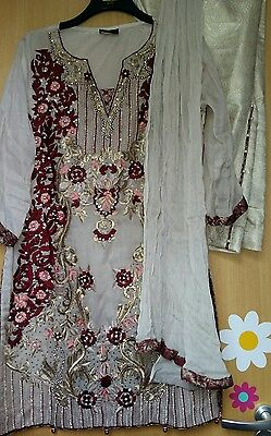 3piece latest Beautiful ladie eis/party shalwar kameez size large