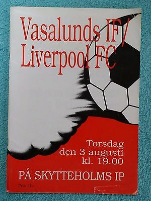 1989 - VASALUNDS IF v LIVERPOOL PROGRAMME - FRIENDLY