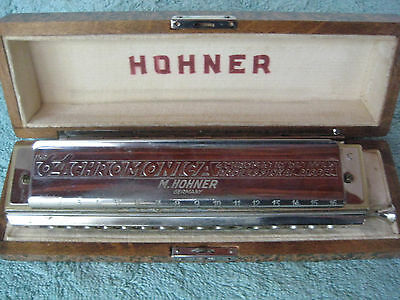 "Hohner - 280/64 Chromonica 4 Octaves - PROFESSIONAL MODEL ""C"" with Wood Case"
