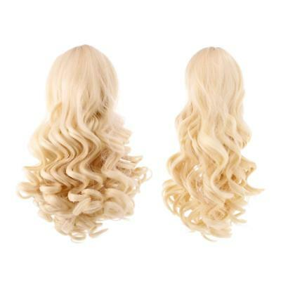 2pcs Simulation Scalp Wig Wavy Curly Hair for 18'' American Girl Doll #4+#10