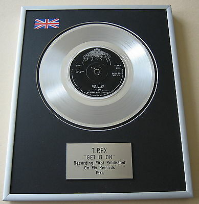 Marc Bolan T. REX Get It On PLATINUM SINGLE DISC PRESENTATION