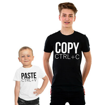 Copy and Paste Father & Son tshirt Gift Dad matching Fathers Day Geek Shirt Cute