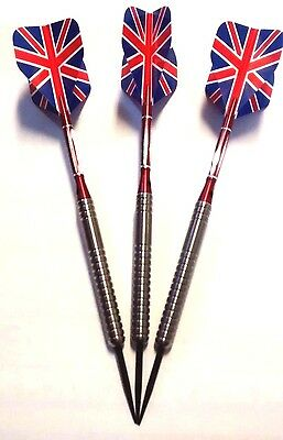 Tungsten Darts set 23g (with free Aluminium shafts and Union Jack flights)