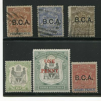 British Central Africa 1891-7 South Coat of Arms Mint Used SCV $52