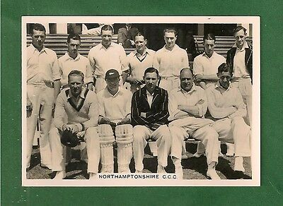 NORTHAMPTONSHIRE COUNTY CRICKET CLUB 1936 Team Photo FULL TEAM NAMED on reverse