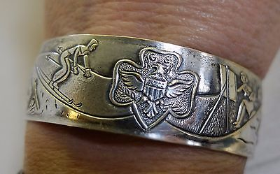 Vintage Girl Scouts Rare Sports Bracelet 1939 Summer to Winter Silver Tone