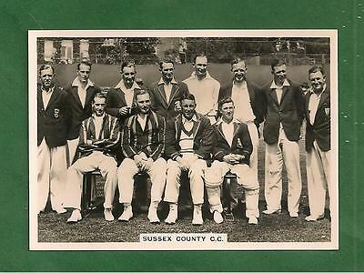 SUSSEX COUNTY CRICKET CLUB 1936 Team Photo FULL TEAM NAMED on reverse