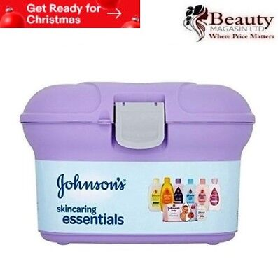 Johnsons Baby Skincaring Essentials Gift Set Ideal Newborn Present New In Case