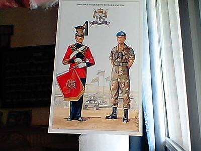 Military postcard.Geoff White The British Army Series.No 15. 16th/5th The Queens