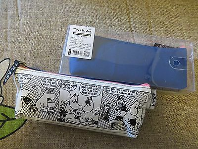 A Moomin Characters Moomintroll Cotton Zipper Pencil Case Blue x1pc