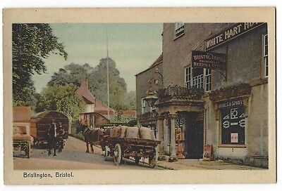 BRISLINGTON View at the White Hart Hotel, Old Postcard by WHS, Unused