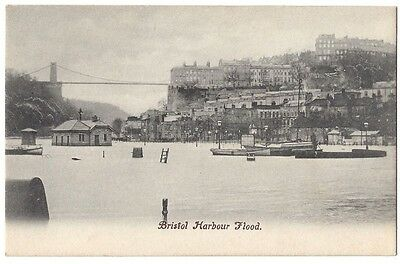BRISTOL Harbour Flood, Old Postcard Unused
