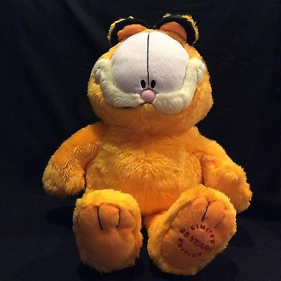 "Paws Garfield The Cat 25 Years Limited Edition 18"" Plush Stuffed Animal"