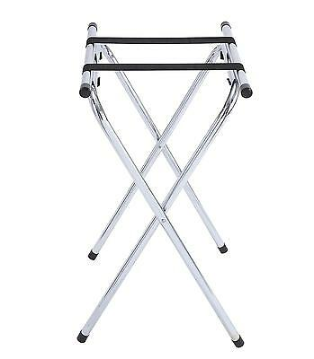 "Winco TSY-1A 31"" Chrome Plated Tray Stand with Bar"
