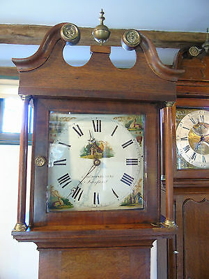 Attractive oak longcase clock by George Honeybone of Fairford c.1850.
