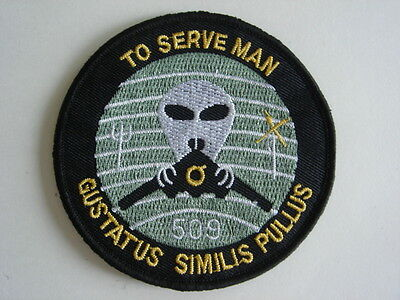 1 pc -New USAF 509th Bomb Wing B2 Spirit Stealth emb patch hook back