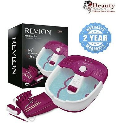 Revlon Relaxing Bubbling Massage Pediprep Foot Spa Bath with Pedicure Set
