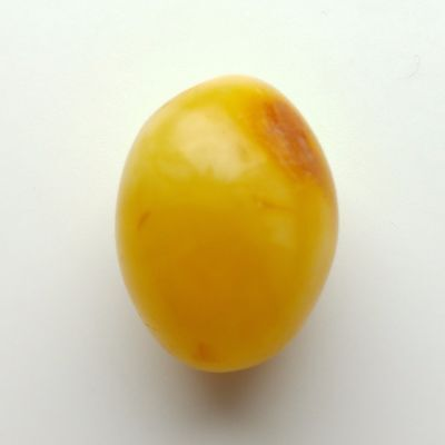 4.7g Antique Vintage Egg Yolk Natural Baltic Amber Rounded Drilled Bead a5