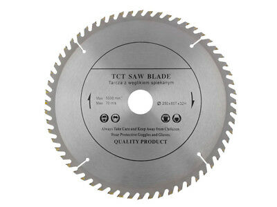 250mm x 32mm x 60 Teeth Top Quality Wood Cutting TCT Circular Saw Blade Disc