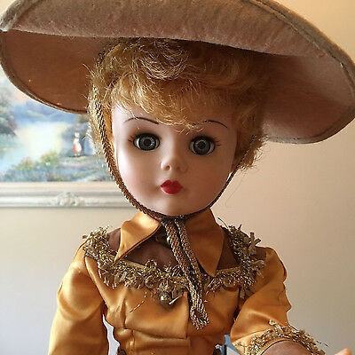 1950's or Earlier Very Pretty Vintage Cowboy Girl Doll Excellent Condition !!!