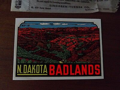 North Dakota Badlands . Lindgren - Turner Decal in Original Packaging