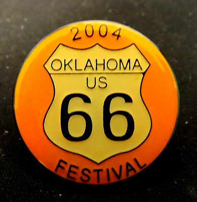 Tulsa Route 66 Festival 2004 Lapel Pin. Mint Condition. Highway 66 Collectible