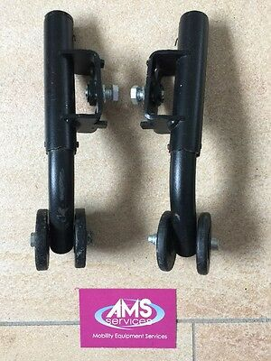 Handicare Ibis X Series Tilt in Space Wheelchair Pair of Anti Tip Wheels / Bar