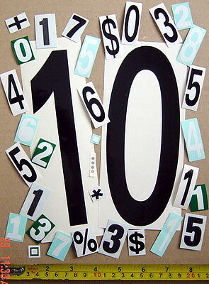 One Lot Of 34 Autoadhesive Glossy Vinyl Numbers, In.or Outdoor Use, Scrapbook +