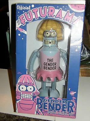 "Futurama  ""Gender Bender Robot""      over 8""inch action figure  2008 collector"
