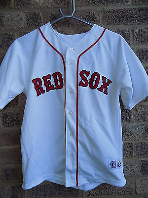Vintage Boston Red Sox jersey shirt by Majestic  # 15 PEDROIA