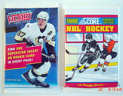 .lot Of Two 1990-2008's Hockey Card Unopened Packs