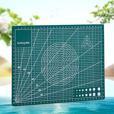 A4 Cutting Mat Self-Healing Double Printed Grid Lines Knife Board Craft Non Slip