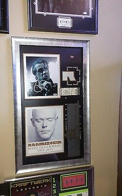 SIGNED - TILL LINDEMAN (RAMMSTEIN) Signed 8x10 Photo PSA/DNA COA FRAMED