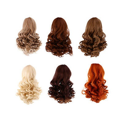 6 Pieces/Set Dolls Wavy Curly Hair Wig for 18inch American Doll DIY Making